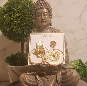 ETTIKA Goldtone  Dangling Hoop Earrings